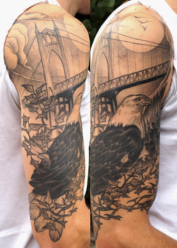eagle-half-sleeve-tattoo